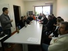 Italianos em reunião sobre Rede Leite no Escritório Regional da Emater RS-Ascar Foto Cleuza Brutti