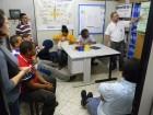 Extensionistas Vito Cembranel e Arnete Mazzaro recebem comitiva em Bozano