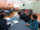 Reitora da Unicruz Elizabeth Dorneles com extensionistas da Emater Ascar