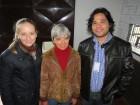 Rúbia, Sandra Rambo e pesquisador da Embrapa Marcos Yokoo em Sede Nova