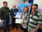 Alberi Noronha, Jorge Fainé e Gustavo Martins entregam Atlas Climático da Embrapa à Rosane Félix, da Unicruz
