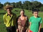 Vilmar, Carmem e o filho de 12 anos, Guilherme Kaufmann.