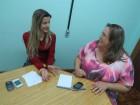 Relações Públicas da Embrapa, Lisiane Brisolara, e Jornalista da Unijuí, Andréia Santos
