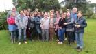 Agricultores, extensionistas e professores posam para foto.